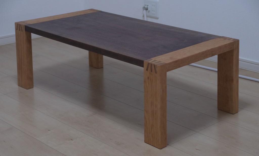ウォールナット・チェリーのセンターテーブル
