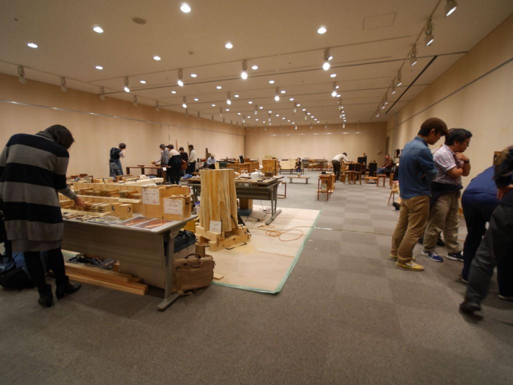 木の仕事展INの東海2015、2日目の会場の様子