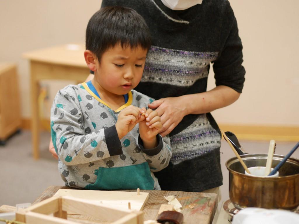 どうしても、こちらがやりたいと参加してくれた出展者の中井さんの甥っ子さん。