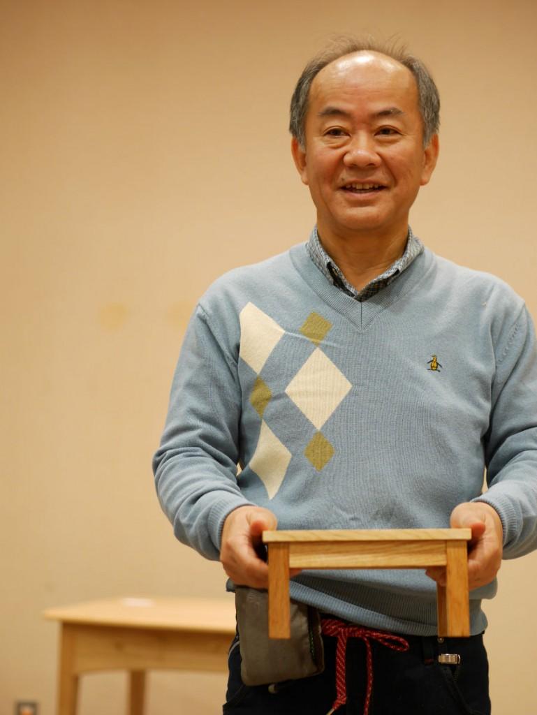 名古屋在住の森田さん。奥様が、出展者の宮本さんの教室の生徒さんです。