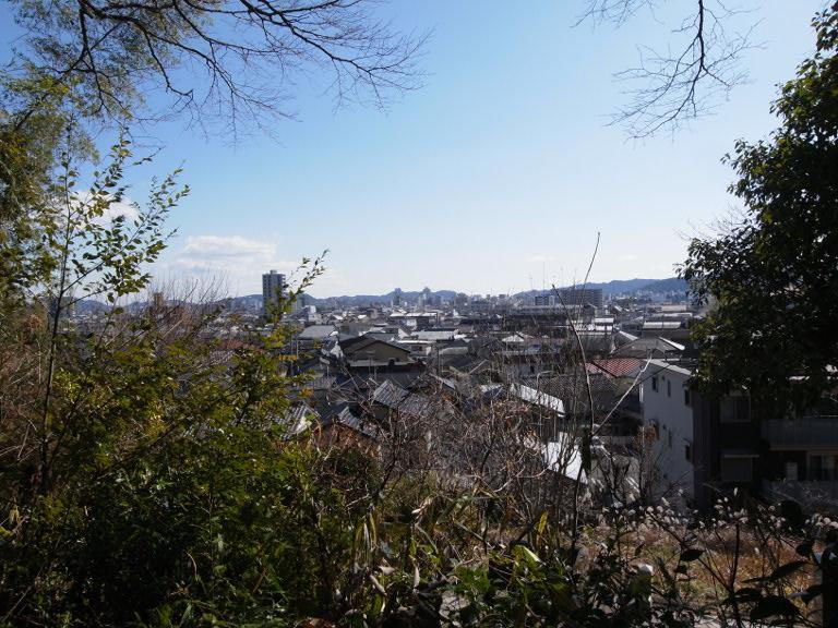 寺田家墓地より高知市内の眺望